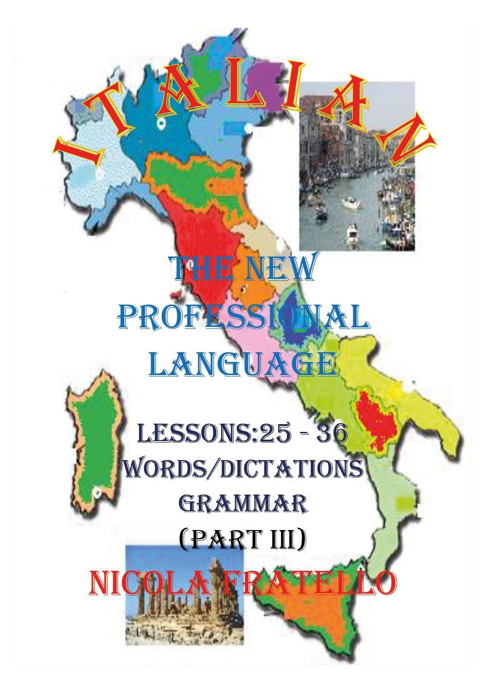 Italian - The New Professional Language - Parte III