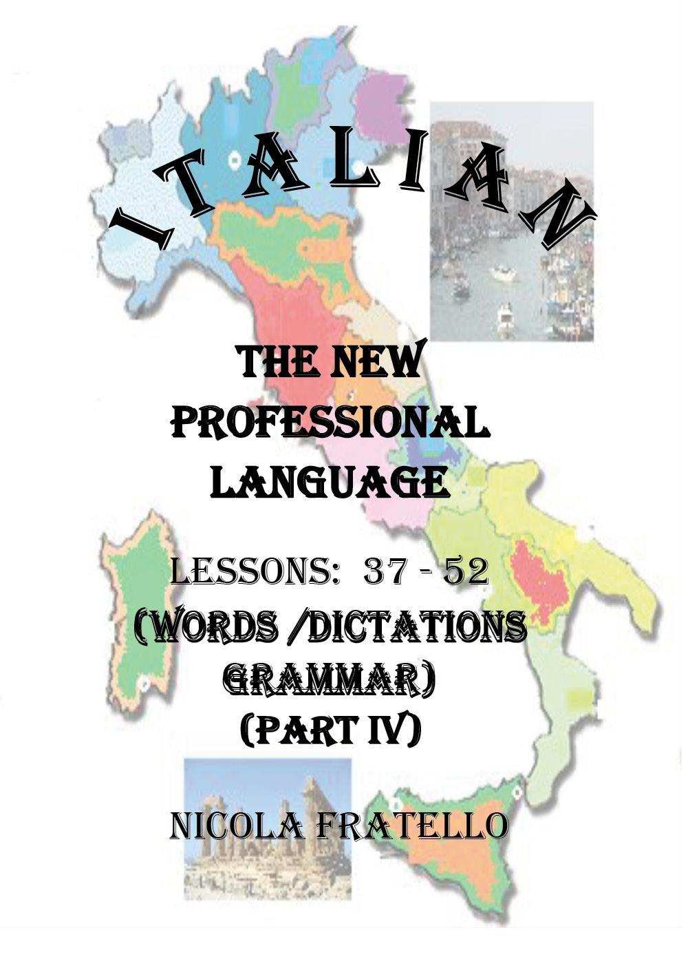 Italian - The New Professional Language - Parte IV