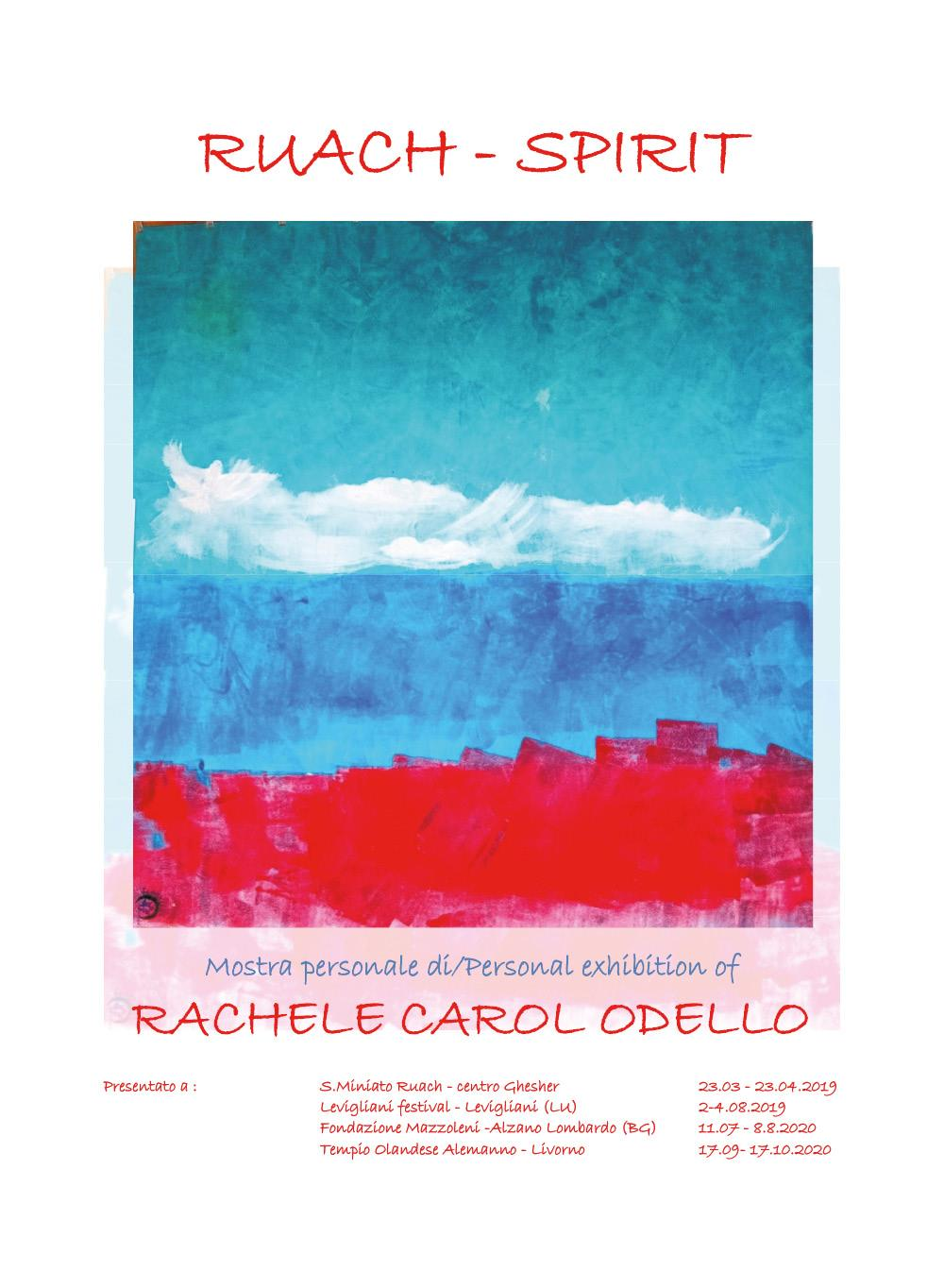 Ruach - Spirit - Personal art exhibition - Artist Rachele Carol Odello