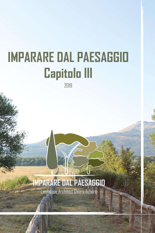 Imparare dal Paesaggio - Capitolo III