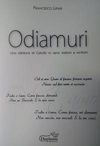 Odiamuri. Una rilettura di Catullo in versi italiani e siciliani