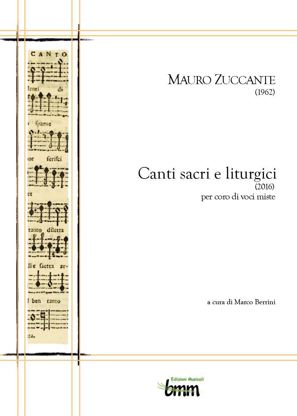 Mauro Zuccante. Canti sacri e liturgici (2016)