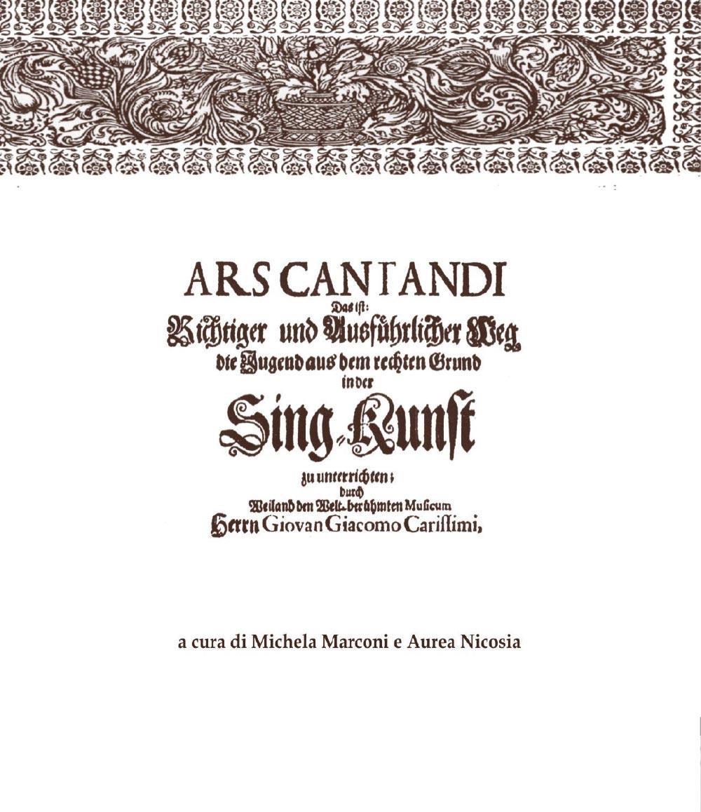 Ars Cantandi di Giacomo Carissimi