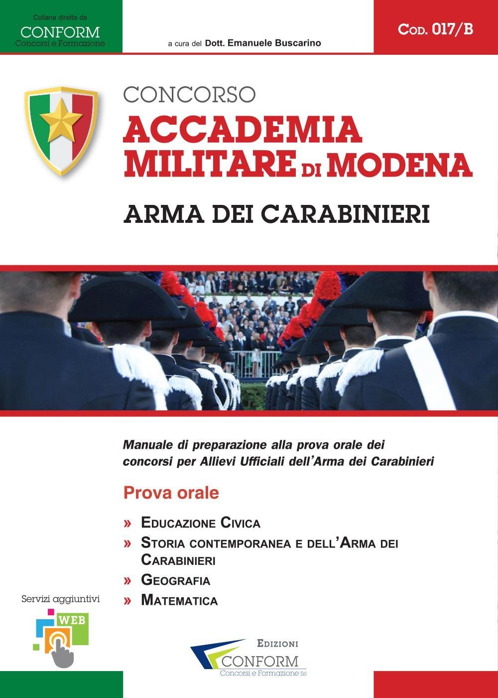 017B   Concorso Accademia Militare di Modena Arma dei Carabinieri (Prova Orale)