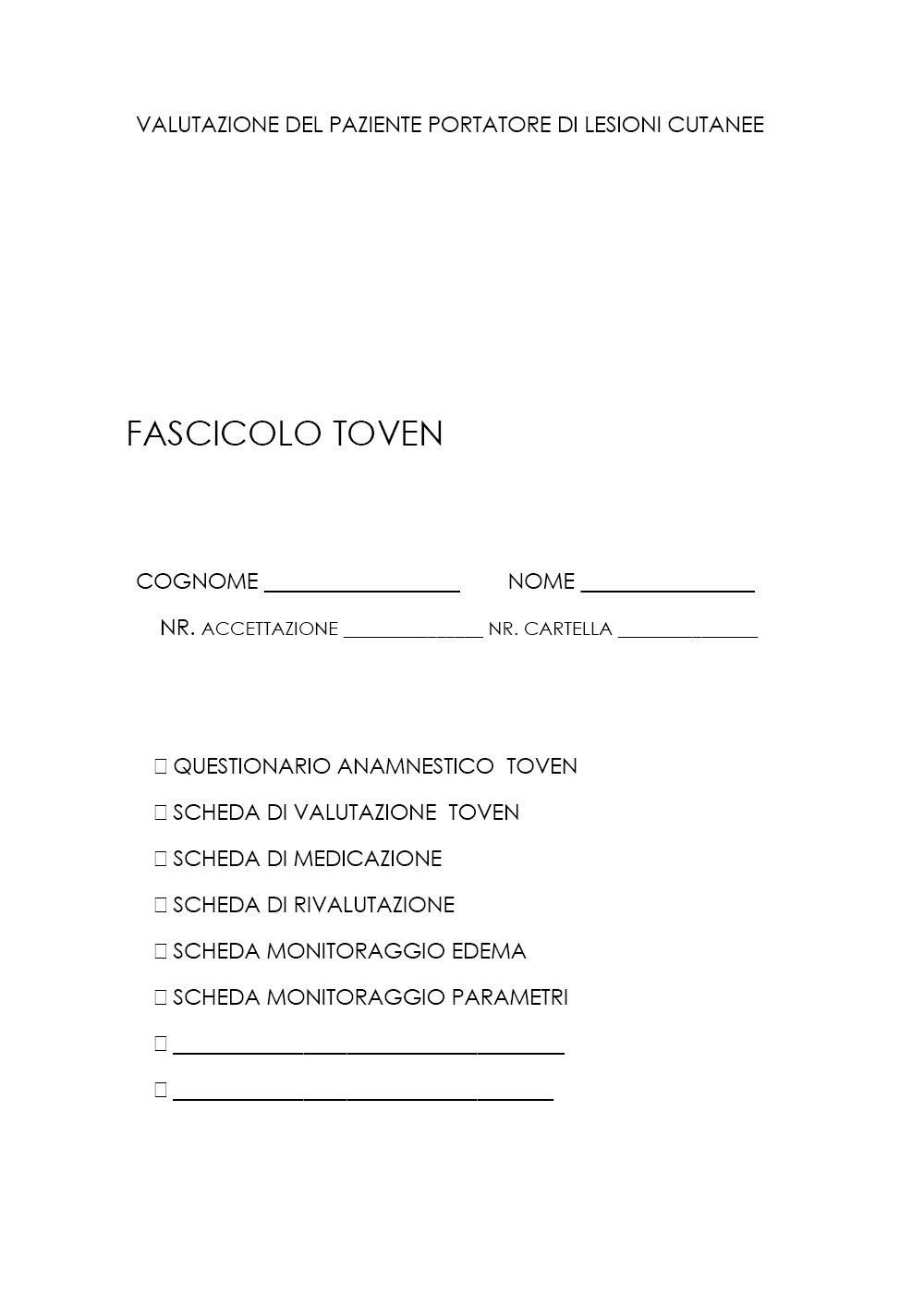 Fascicolo Toven