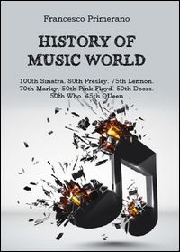 History of music world: 100th Sinatra. 80th Presley. 75th Lennon. 70th Marley. 50th Pink Floyd. 50th Doors. 50 Who. 45th Queen