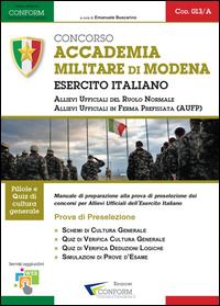 013A   Concorso Accademia Militare di Modena Esercito Italiano (Prova di Preselezione)
