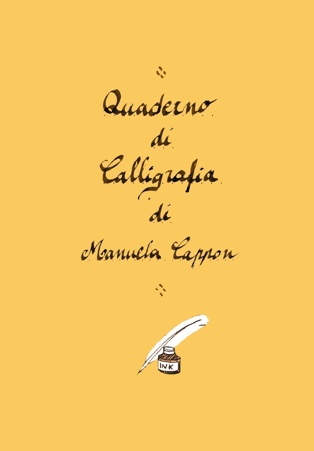 Quaderno di calligrafia