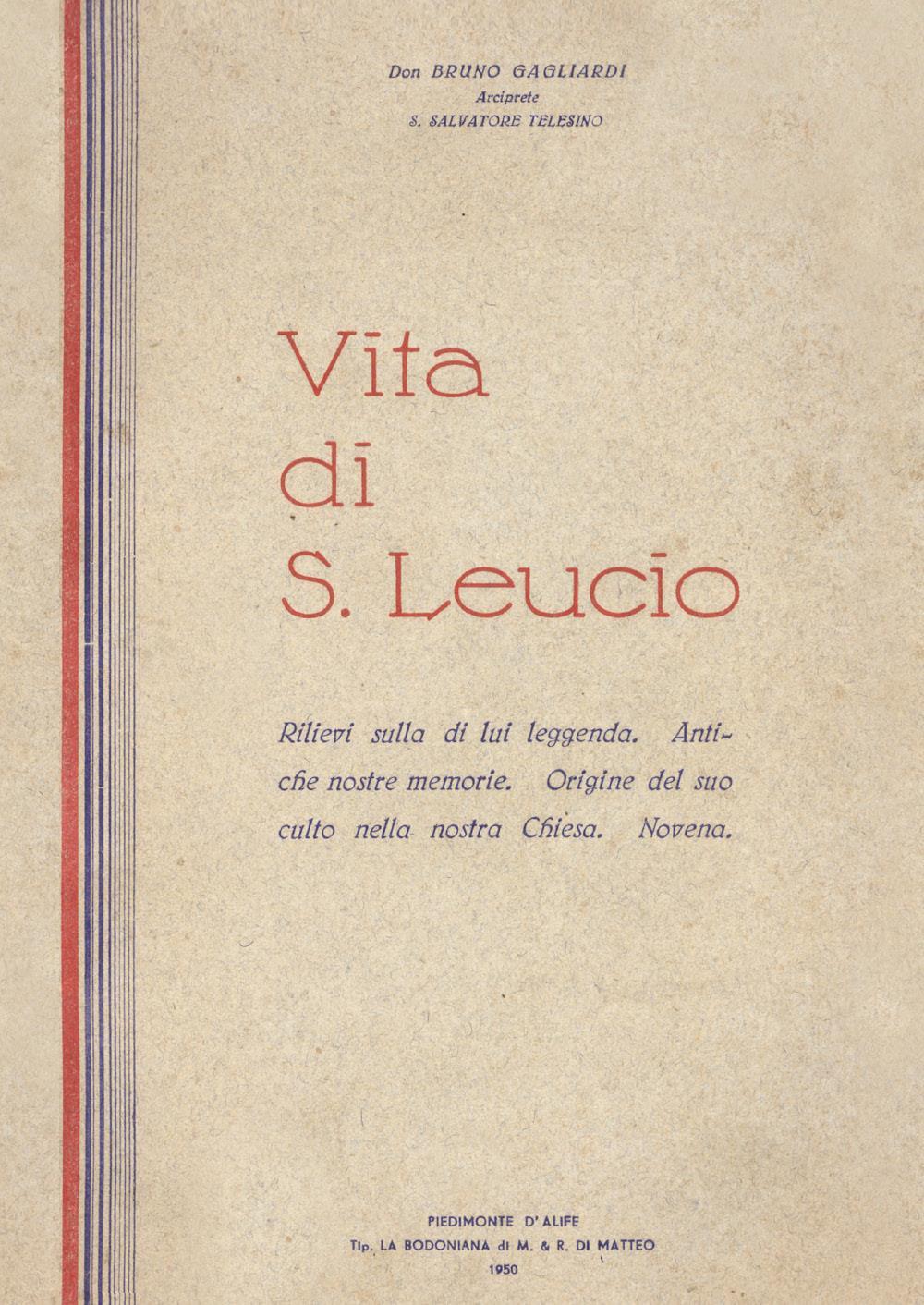 Vita di San Leucio a cura di Antonietta Cutillo