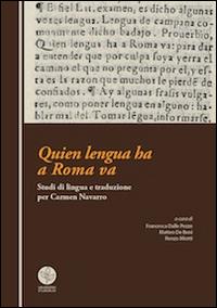 Quien lengua ha a Roma va. Studi di lingua e traduzione per Carmen Navarro