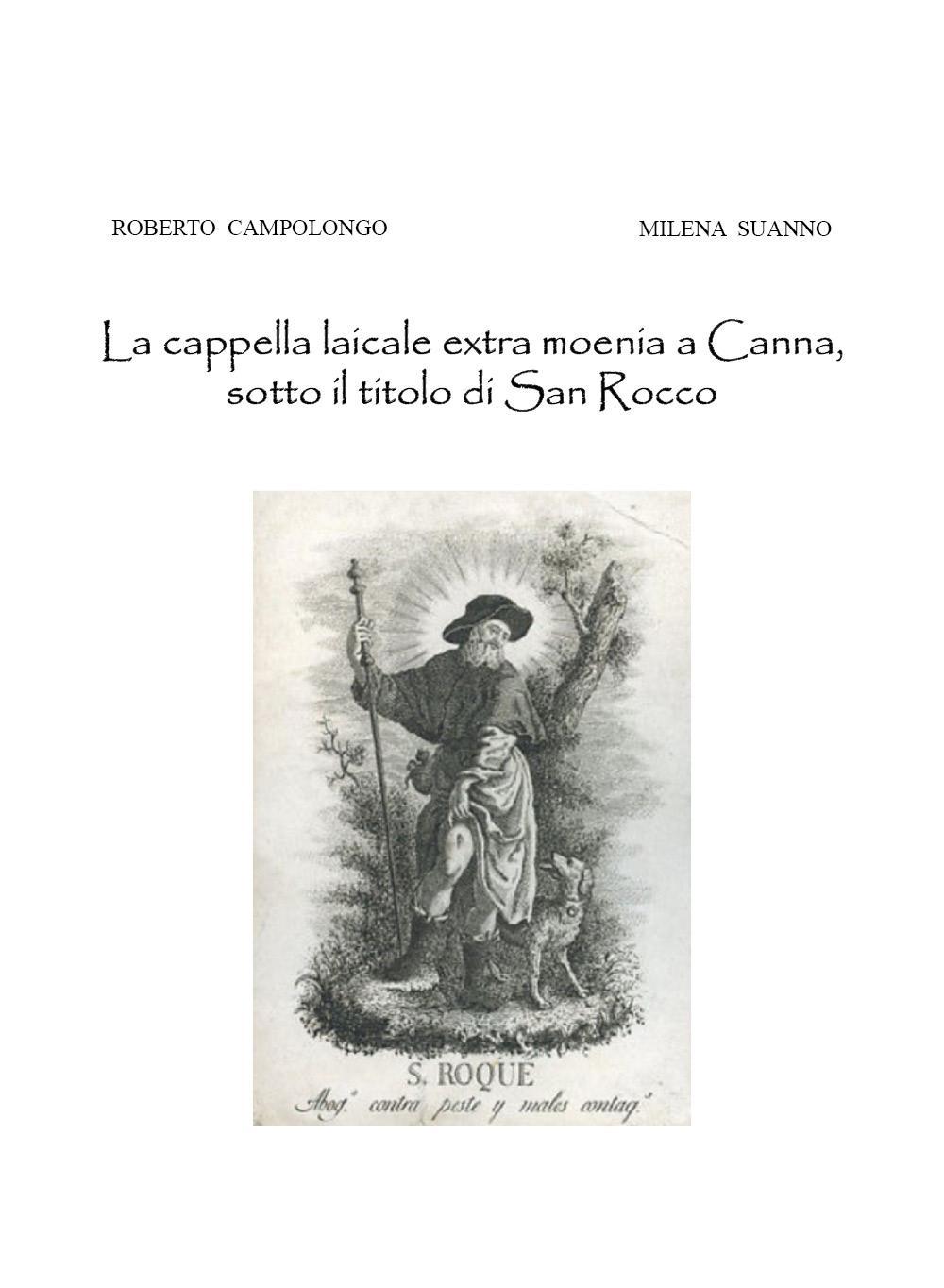 La cappella laicale extra moenia a Canna, sotto il titolo di San Rocco
