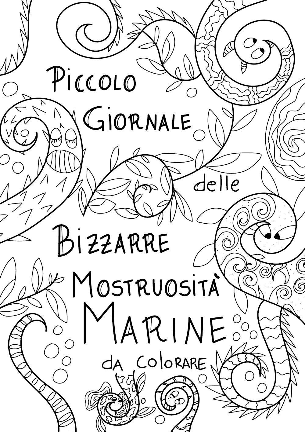 Piccolo Giornale delle Bizzarre Mostruosità Marine - da colorare