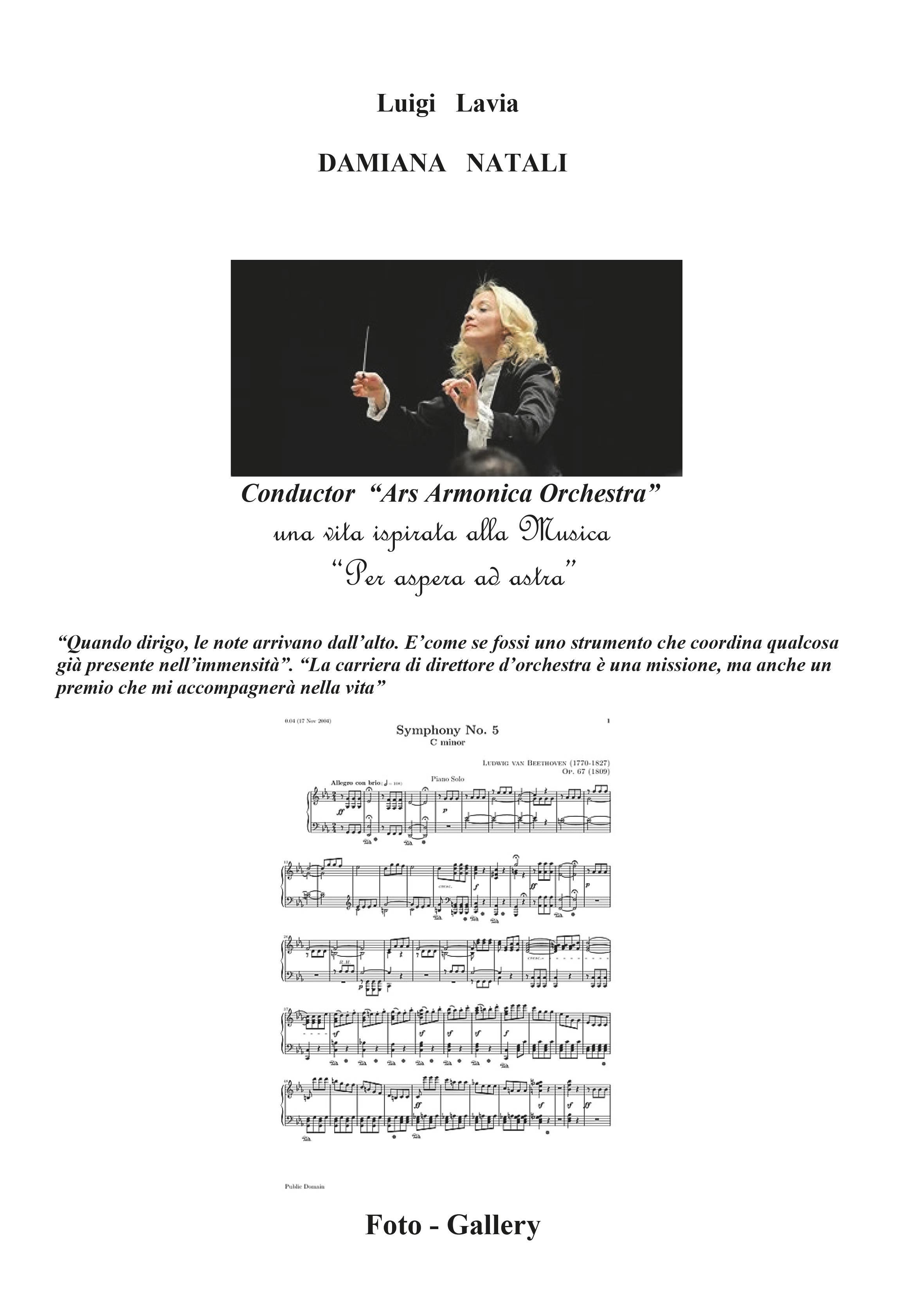 Damiana Natali - Conductor Ars Armonica Orchestra
