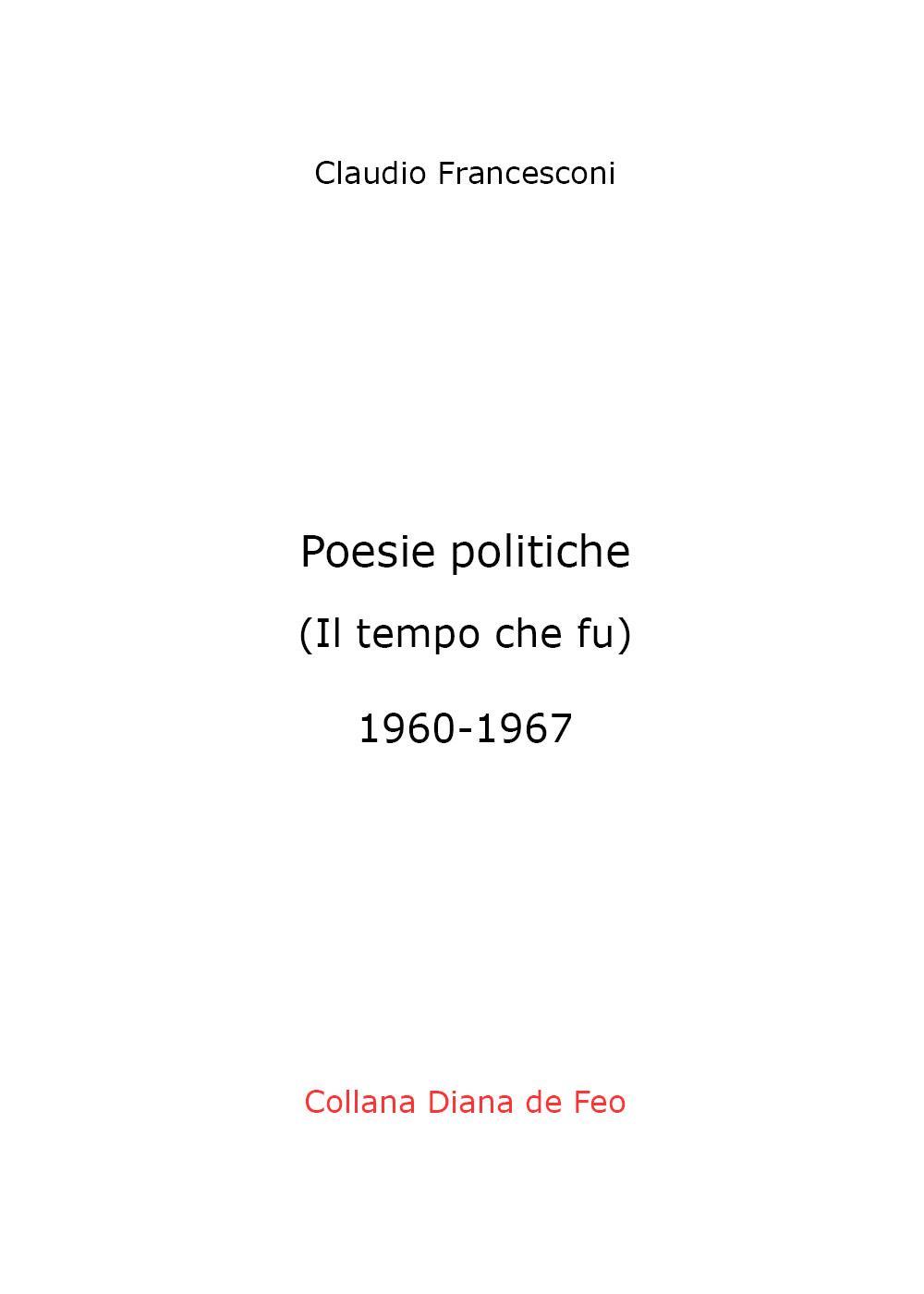 Poesie politiche Il tempo che fu