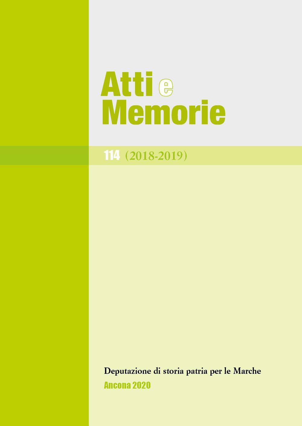 Atti e memorie 114 (2018-2019)