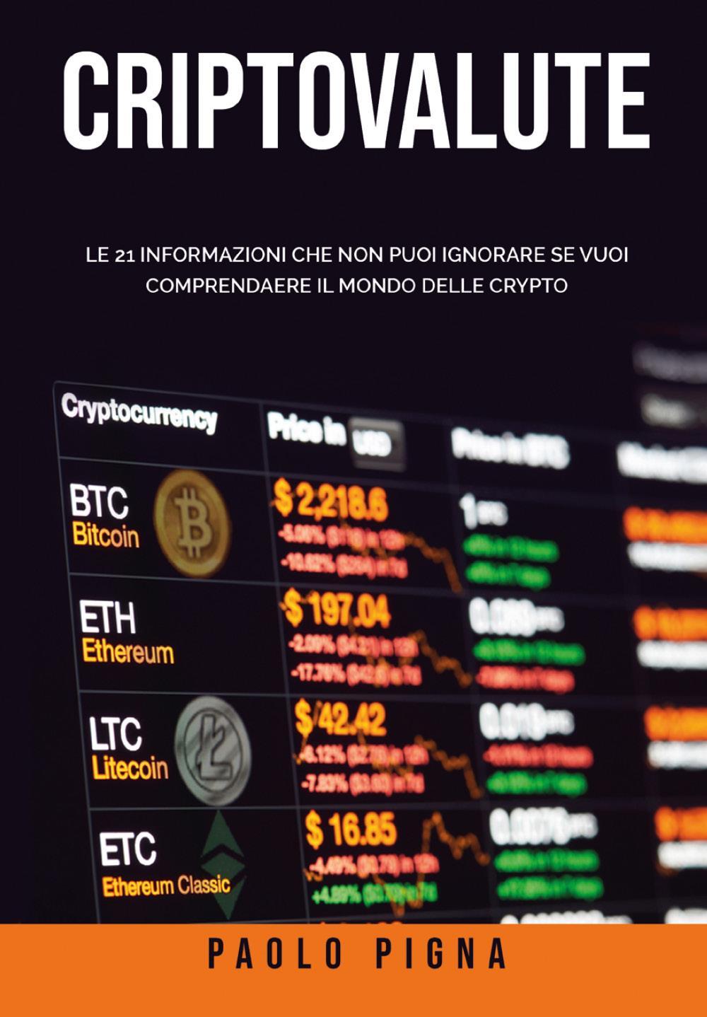 Criptovalute: Le 21 informazioni che non puoi ignorare se vuoi comprendere il mondo delle crypto