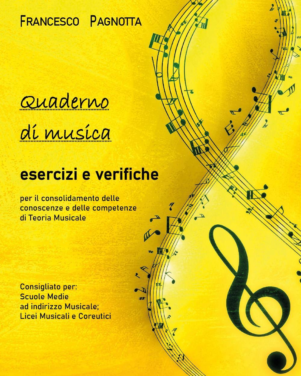 Quaderno di Musica: esercizi e verifiche