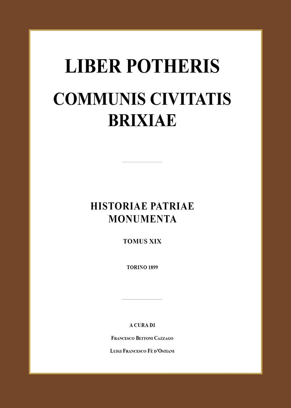Liber potheris communis civitatis Brixiae