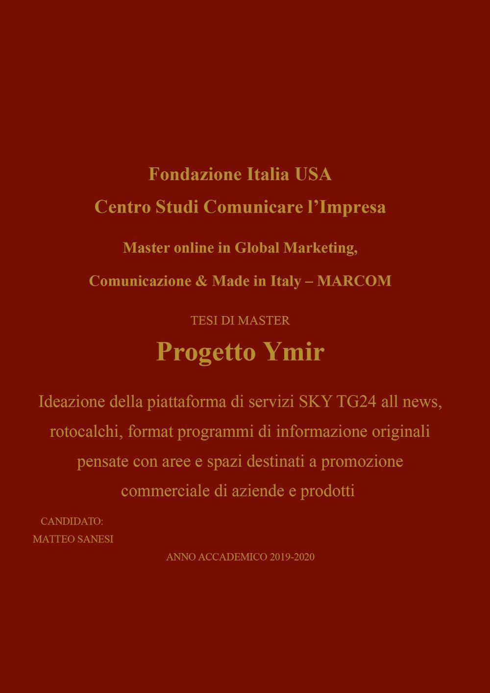 Progetto Ymir - MARCOM
