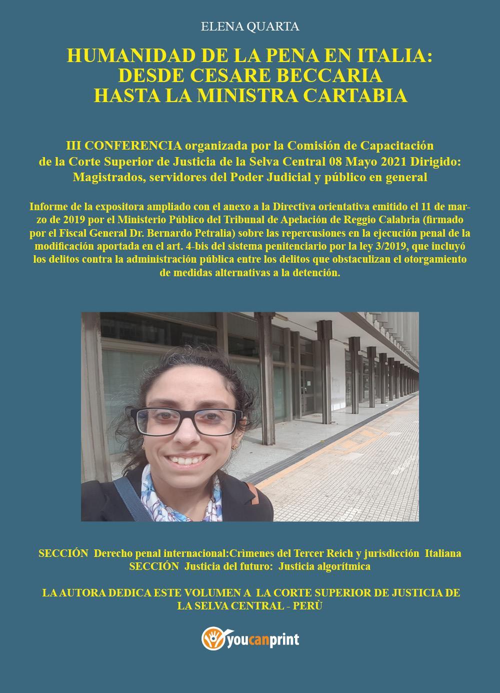 Humanidad de la pena en Italia: desde Cesare Beccaria hasta la Ministra Cartabia