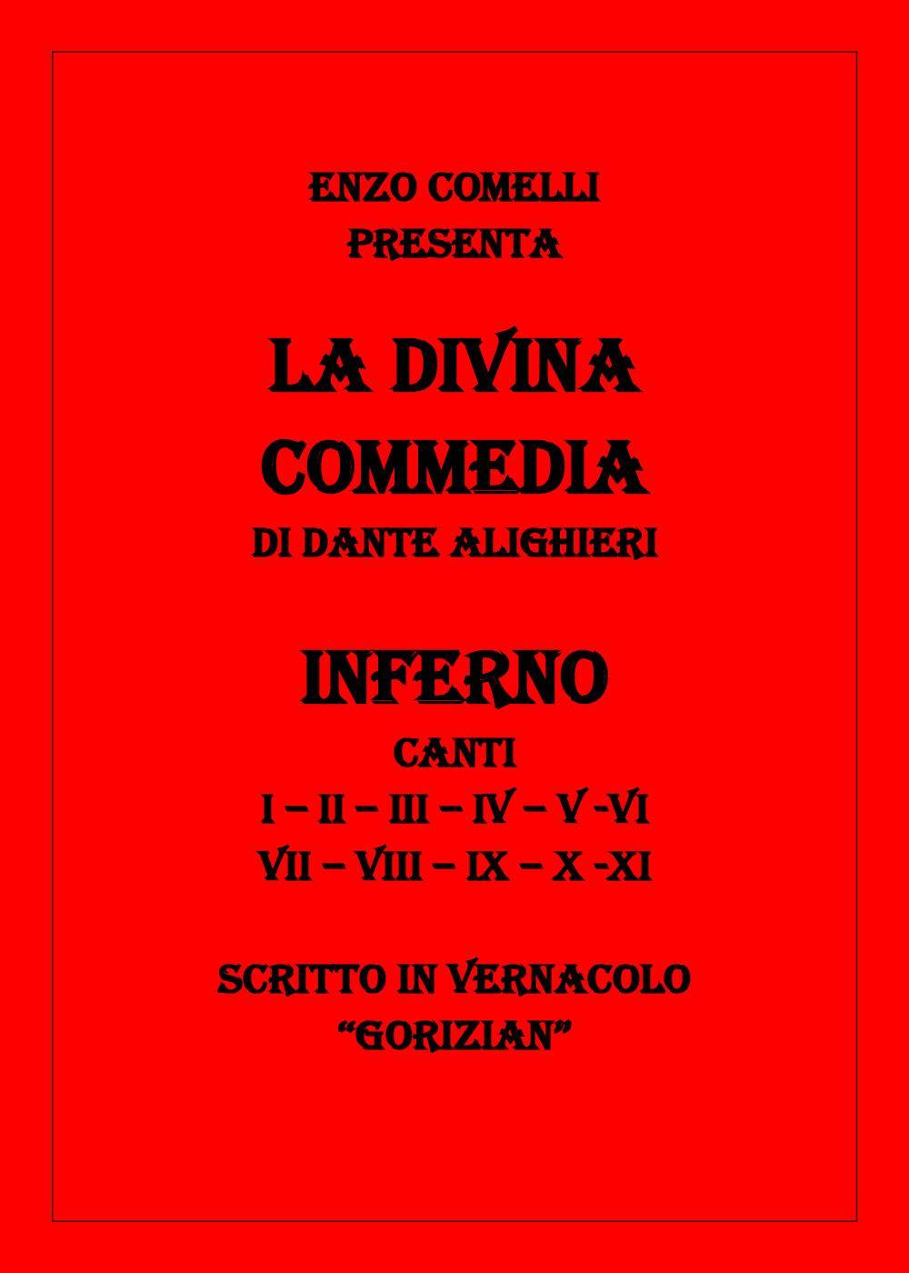 """La Divina Commedia in vernacolo """"gorizian"""""""