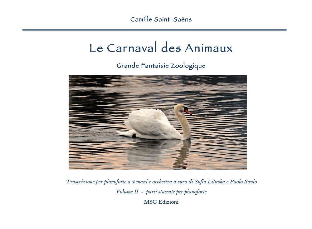 Camille Saint - Saéns: Le Carnaval des Animaux - parti staccate per pianoforte a 4 mani
