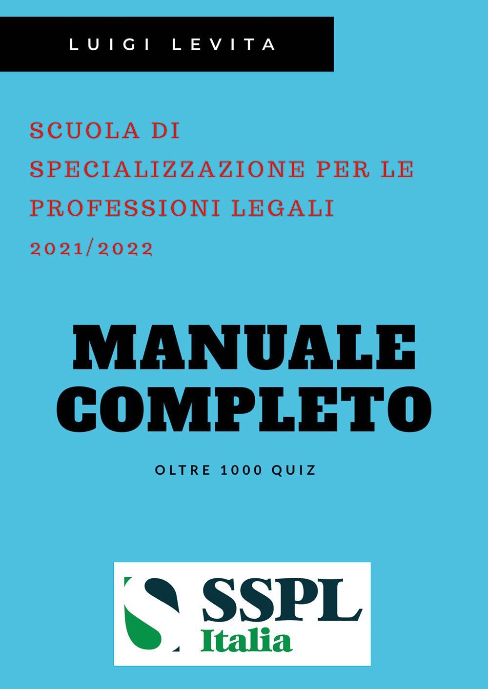 SSPL -  Scuola di Specializzazione per le Professioni Legali