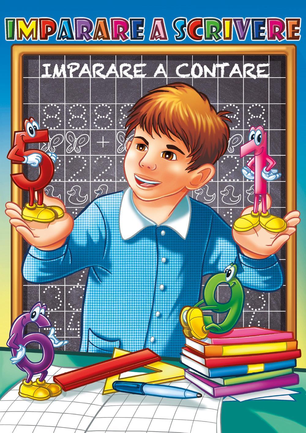 Imparare a scrivere, impara a scrivere i numeri, contare e tracciare attraverso attività di pregrafismo e precalcolo. Bambini 3-6 anni